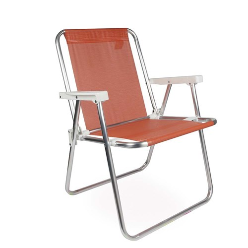 Cadeira Alta Alumínio Coral Mor