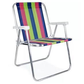 Cadeira Alta Alumínio Cores Sortidas Mor
