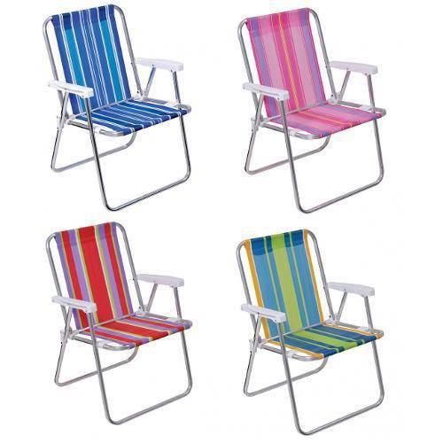 Cadeira Alta Alumínio Dobrável Mor