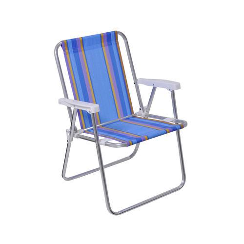 Cadeira Alta Alumínio Mor