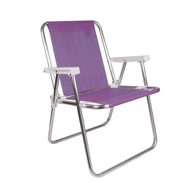 Cadeira Alta Alumínio Sannet Lilás Mor