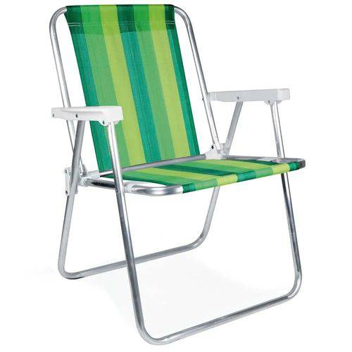 Cadeira Alta de Praia em Alumínio Verde Mor