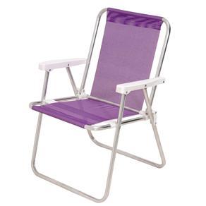 Cadeira Alta Dobrável Tela Sannet em Alumínio Mor - Lilás