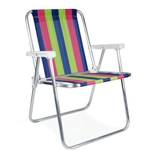 Cadeira Alta Fixa de Alumínio 2101 Mor Sortido