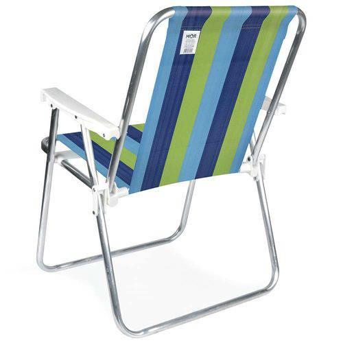 Cadeira Aluminio Preto + Branco 2101/2226 MOR