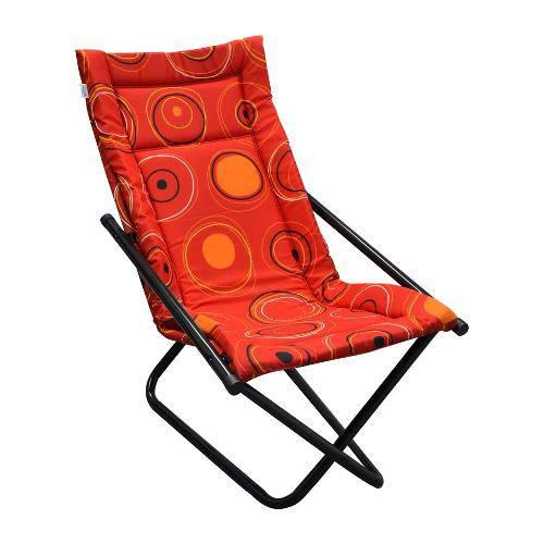 Tudo sobre 'Cadeira Articulável Mônaco Preta e Vermelha'