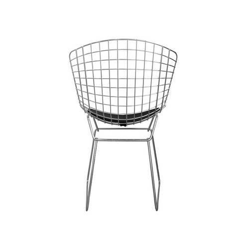 Tudo sobre 'Cadeira Bertoia Cromada - Assento Corino Preto'