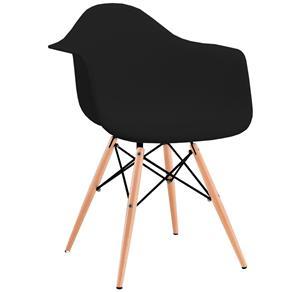 Tudo sobre 'Cadeira Charles Eames com Braço Preta - Preto'