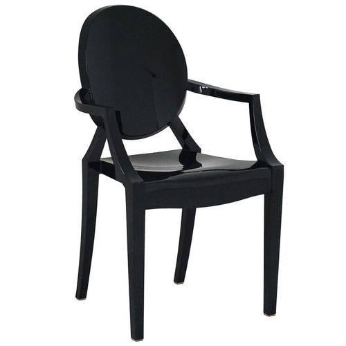 Cadeira com Braço Ghost Preta