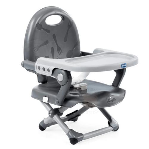 Tudo sobre 'Cadeira de Alimentação Assento Elevatório Pocket Snack Dark Gray (6m+) - Chicco'