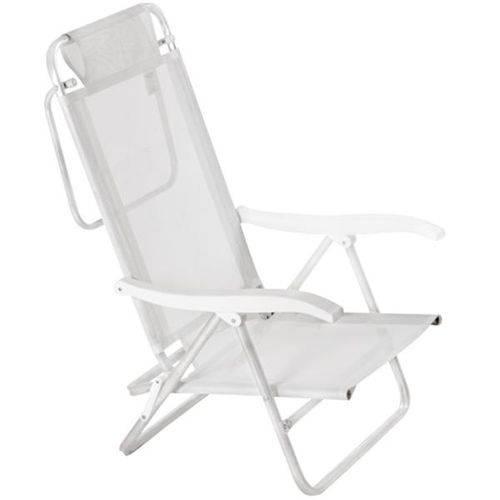 Cadeira de Alumínio Mor Sol e Verão, Branca
