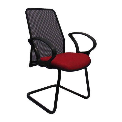 Tudo sobre 'Cadeira Presidente Tela Fixa Vermelha - At.home'