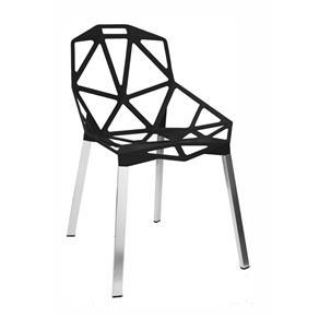 Tudo sobre 'Cadeira de Jantar Alumínio - Preto'