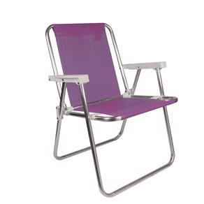 Cadeira de Praia Alta Alumínio Lilás Mor 2291