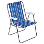 Cadeira de Praia Alta Alumínio Mor 2101