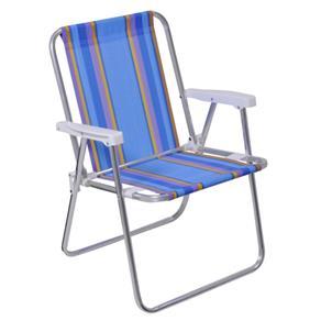 Cadeira de Praia Alta Alumínio Mor