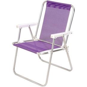 Cadeira de Praia Alta Alumínio Sannet Mor Lilás