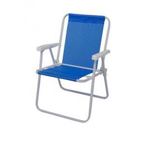 Cadeira de Praia Alta de Aço Sannet Azul - 2283 - Mor