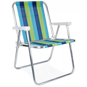 Cadeira de Praia Alta de Aluminio