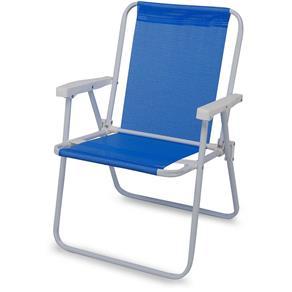 Cadeira de Praia Alta Ferro Sannet Azul