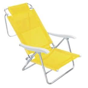 Cadeira de Praia de Alumínio Mor Sol e Verão, Amarela
