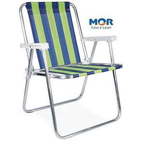 Cadeira de Praia e Piscina Alta Alumínio Suporta