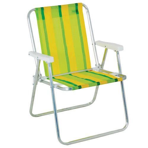 Cadeira de Praia Mor Aluminio Alta 2101