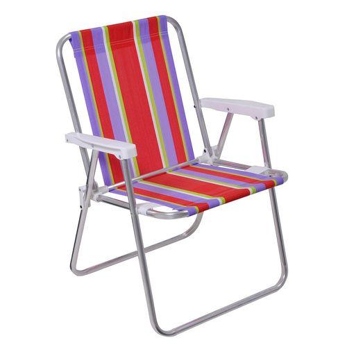 Cadeira de Praia / Piscina Alta de Alumínio
