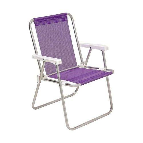 Cadeira de Praia Sannet Alta de Aluminio Lilas Mor