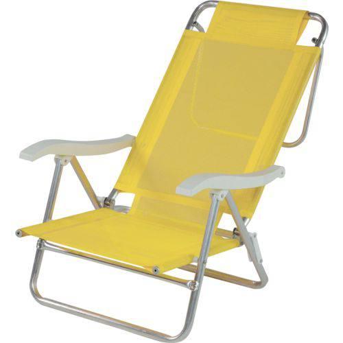 Cadeira de Praia Sol de Verao Amarelo Mor