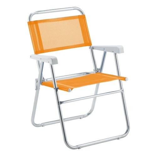 Cadeira de Praia Sun Aluminio Laranja