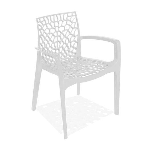 Tudo sobre 'Cadeira Decorativa com Braços, Branco, Gruvyer'