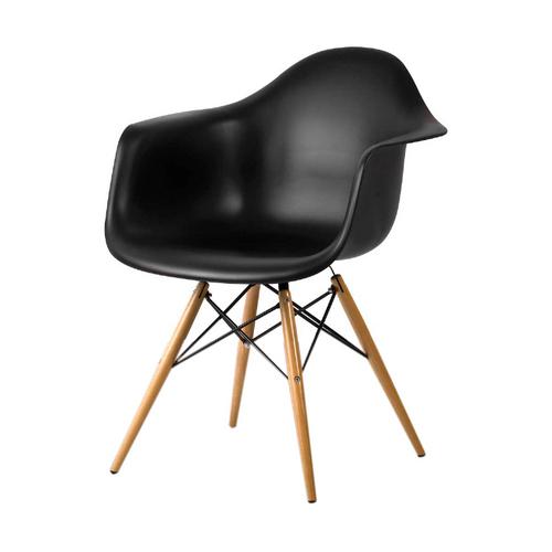Cadeira Dkr com Braço Preta