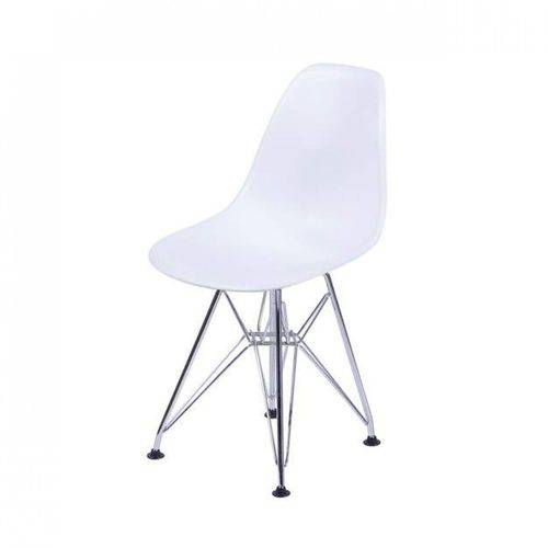 Cadeira Eames Base Cromada OR Design Branco