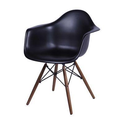 Cadeira Eames com Braço Preta Preta