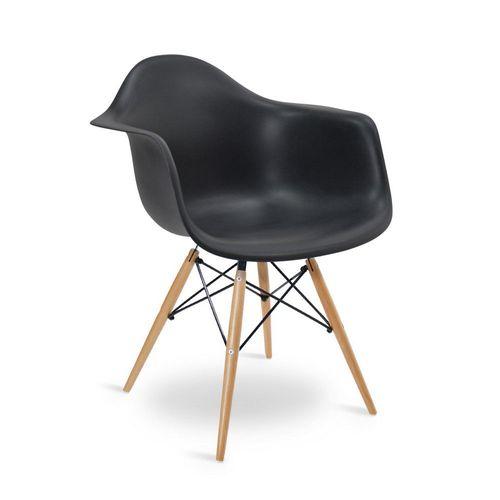 Cadeira Eames DAW Preta Preta