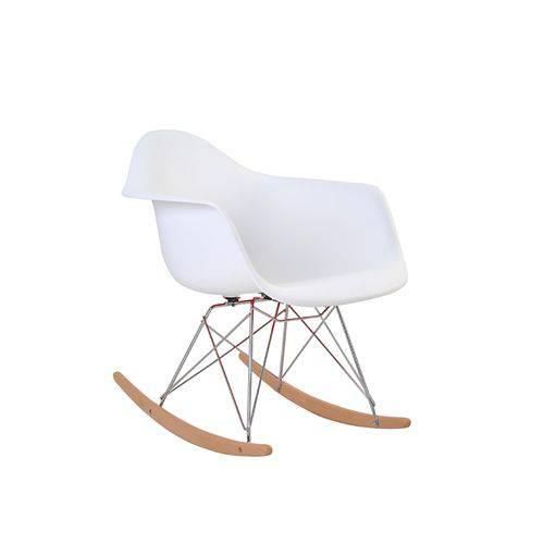 Tudo sobre 'Cadeira Eames Eiffel Rivatti com Braço Pp Base Balanço Branca'