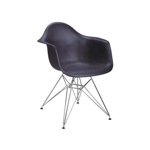 Cadeira Eames Preta com Braço