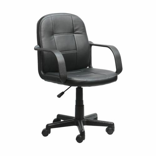 Cadeira Gama Secretaria Preta com Braço