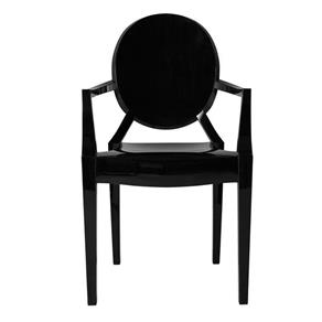 Cadeira Ghost com Braço - PRETO