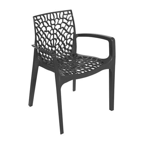Cadeira Gruvyer Braço Preta Preta