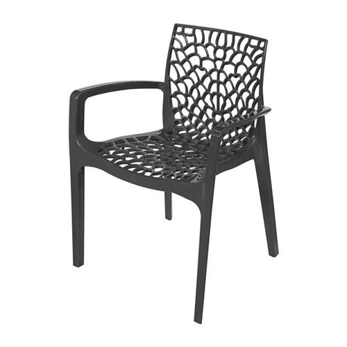 Cadeira Gruvyer com Braço Preta