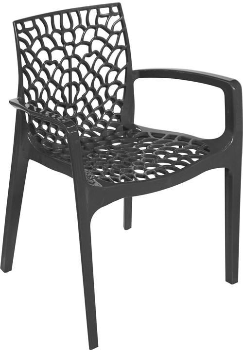 Cadeira Gruvyer com Braço Preto OR Design