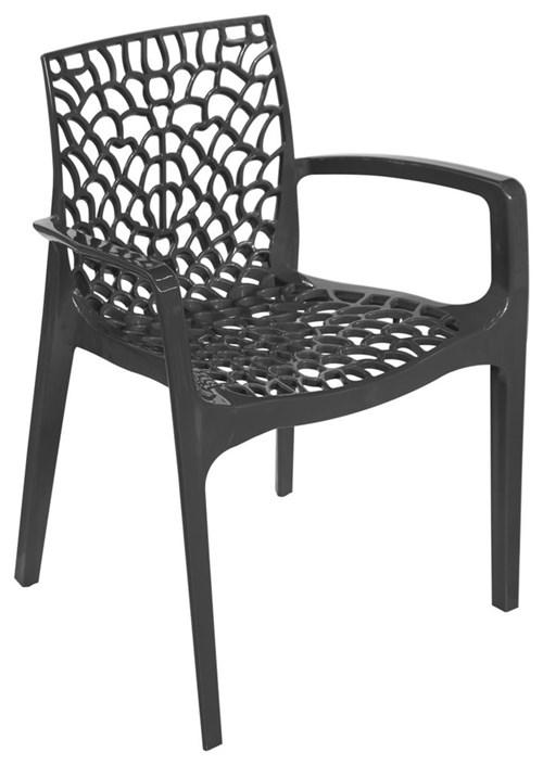 Cadeira Gruvyer Preta com Braço