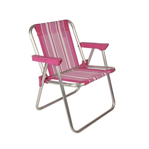 Cadeira Infantil Alta Alumínio Rosa 2122 Mor