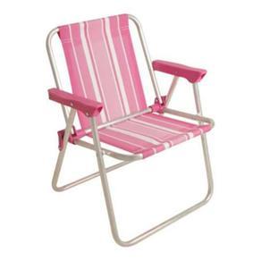 Cadeira Infantil Alta Alumínio Rosa - Mor