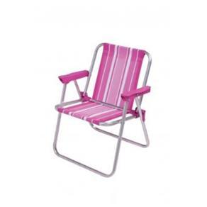Cadeira Infantil Alta Rosa Alumínio MOR
