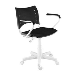Cadeira Iso White com Braço Preta