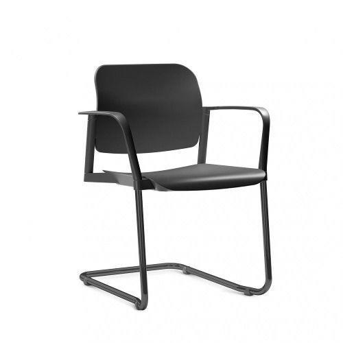 Cadeira Leaf- Base Skl Preta com Braço