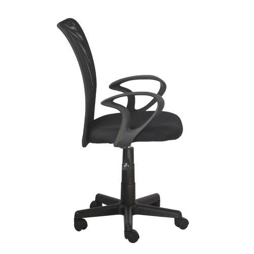 Cadeira Lost Secretaria Preta com Braço